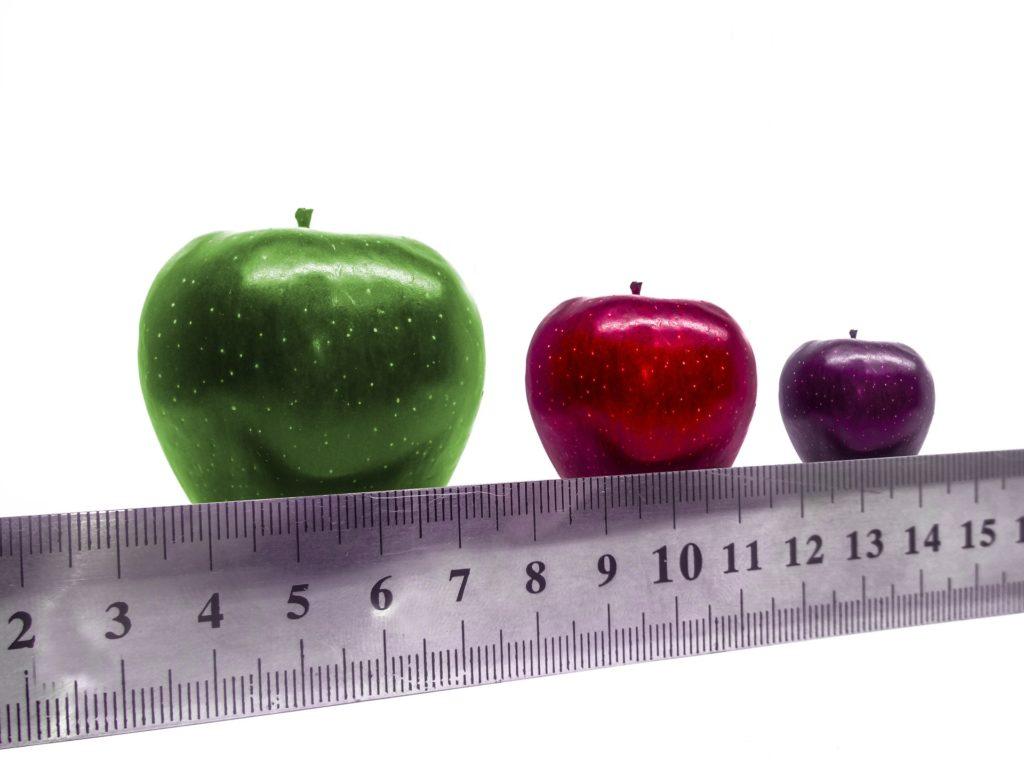 Large Medium Small Size Apples