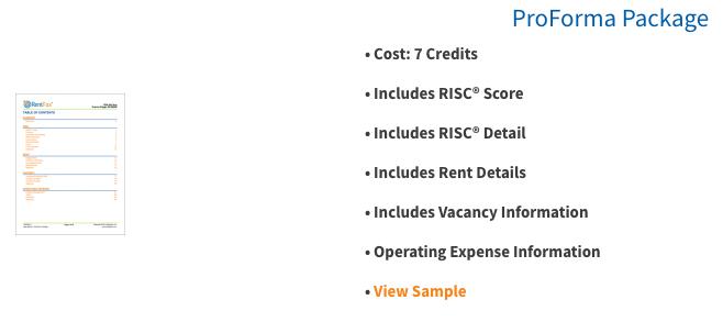 RentFax Report Pricing