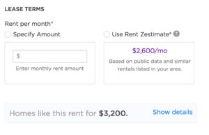 Zillow Rental Listing Form