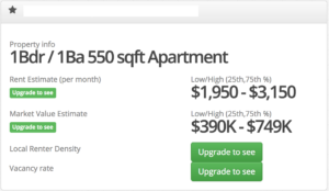 Zilpy Basic Rent Estimate