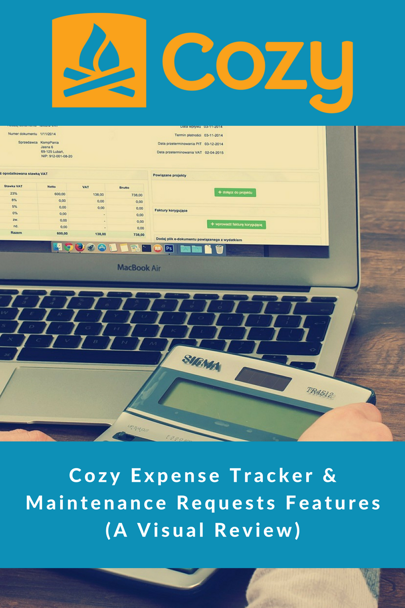 Cozy Property Management Expense & Maintenance Features