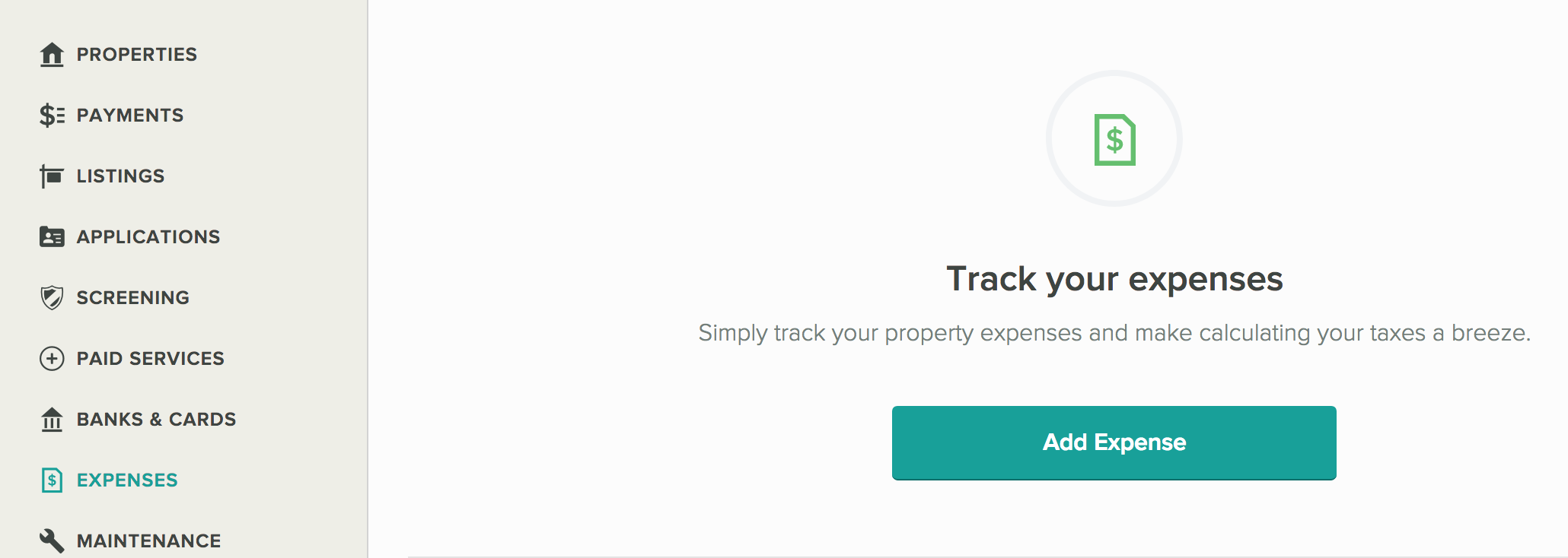 Cozy Track Expenses Get Started Screen