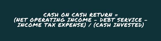 Cash On Cash Return Formula
