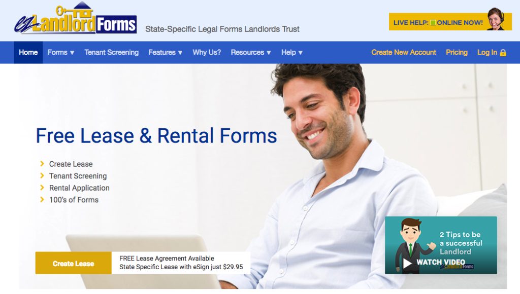 EZ Landlord Forms Home Page