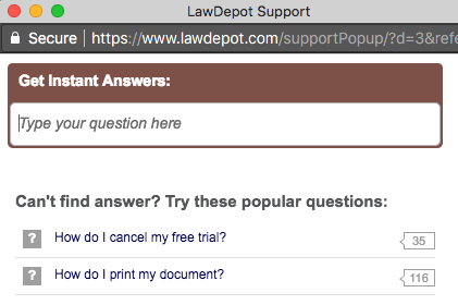 Law Depot Chat