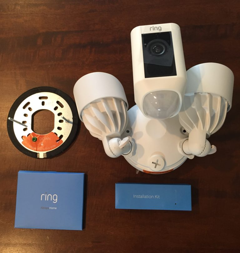 Ring Floodlight Cam Contents Outside of Box