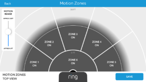 Ring Video Doorbell Motion Zone Settings