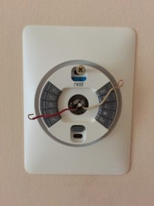 Nest thermostat wall plate and wall mount