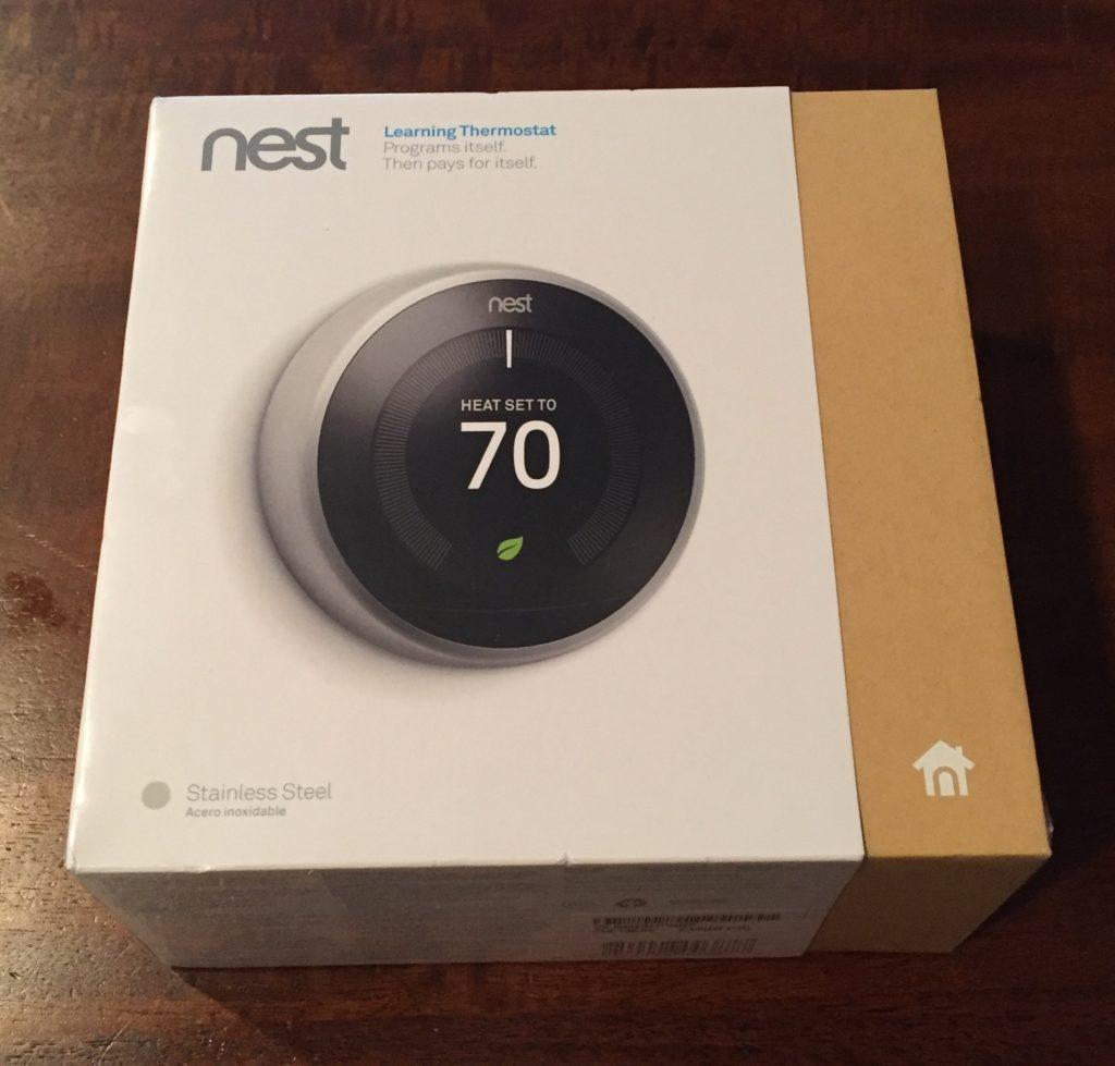 Nest thermostat unopened box
