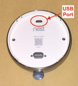 Nest thermostat USB port