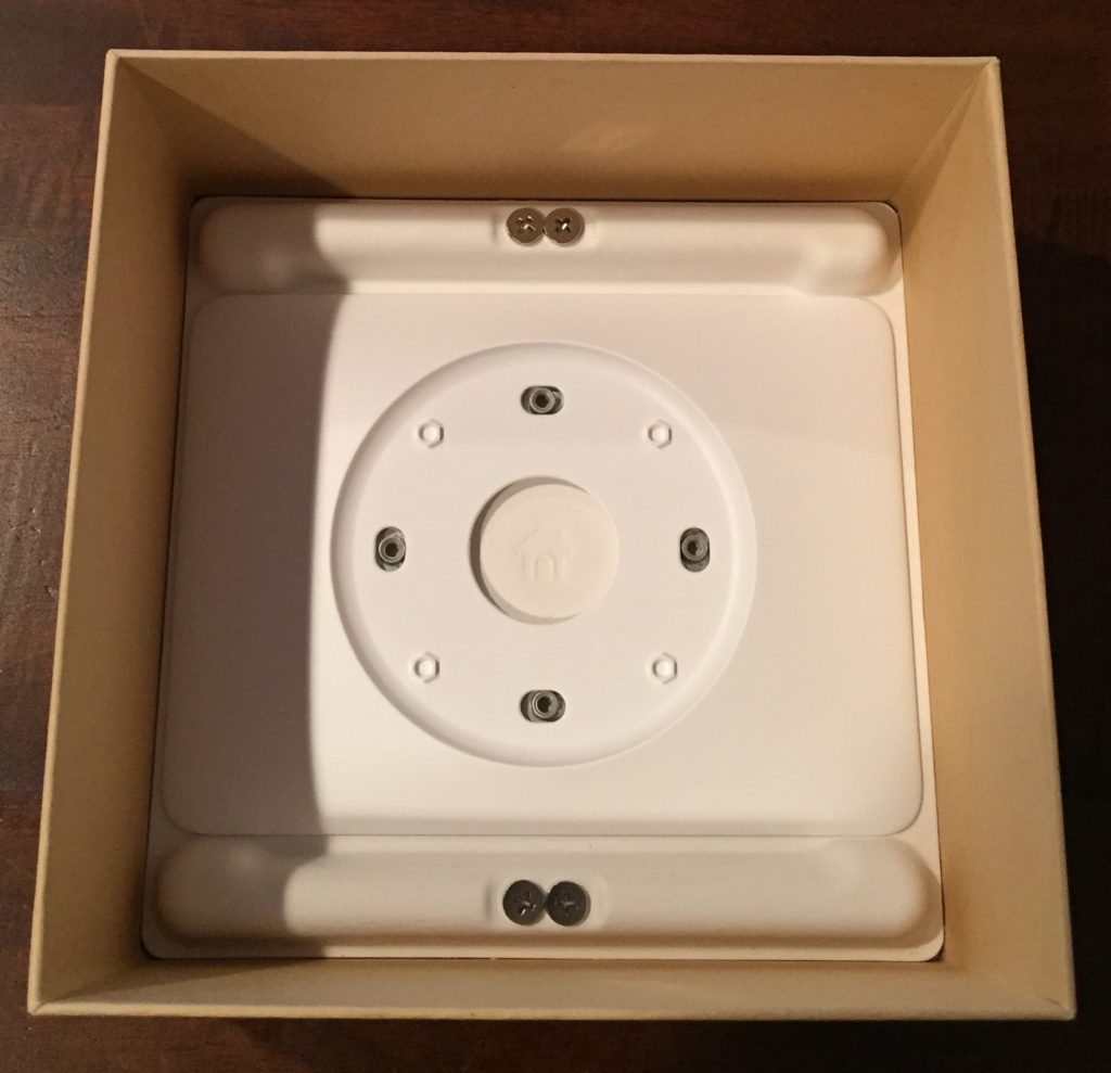 Nest thermostat wall cover inside packaging