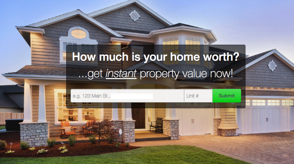 Example ad of a realtor offering a free home worth analysis